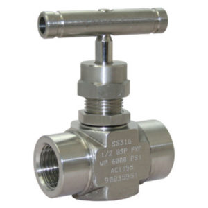 Stainless Steel BSP Needle Valve with T Bar Handle
