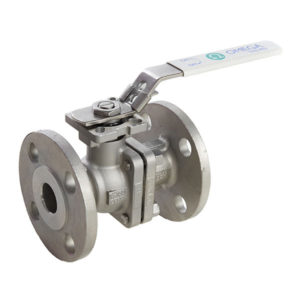Stainless Steel 2 Piece Flanged Ball Valve with Lockable Lever