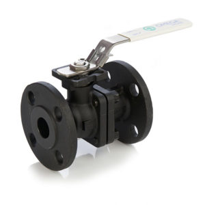 Carbon Steel Flanged 2 Piece Ball Valve with Lockable Lever