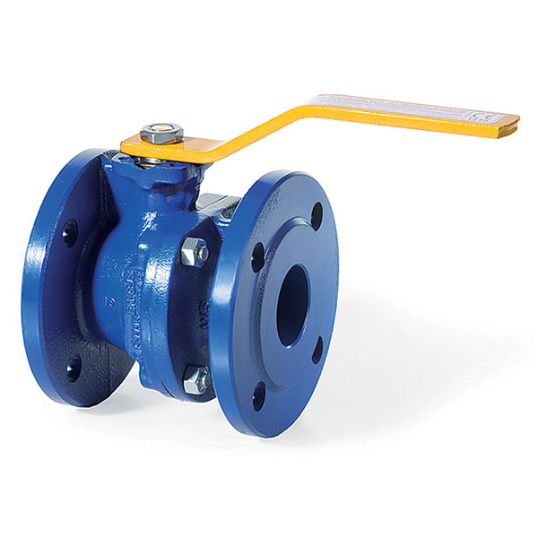 Cast Iron PN16 Flanged Ball Valve with Handlever