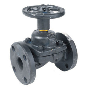Flanged Cast Iron Diaphragm Valve with Hand wheel