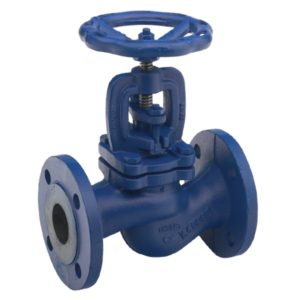 Cast Iron Globe Valve Flanged PN16 with Handwheel (painted blue)