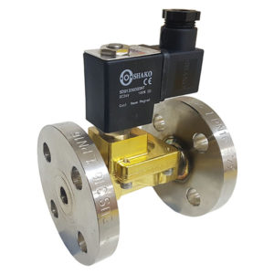 Stainless Steel Flanged PN16 2 Way Solenoid Valve with 24VDC Coil