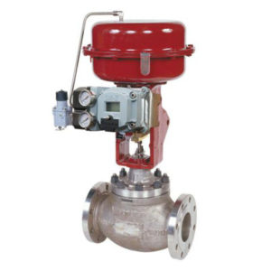 Flanged Stainless Steel Globe Control Valve with Diaphragm Actuator