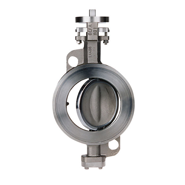 Wafer Pattern High Performance Butterfly Valve Stainless Steel Bare Shaft