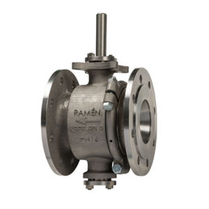 Stainless Steel High Temperature Flanged Ball Sector Valve PN16 Bareshaft