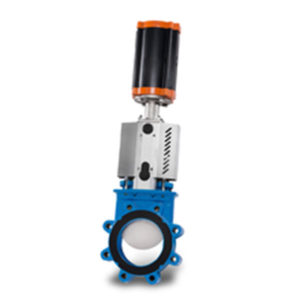 Cast Iron Lugged Knife Gate Valve with Pneumatic Cylinder Operators