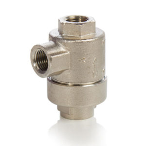 A brass BSP screwed quick exhaust valve