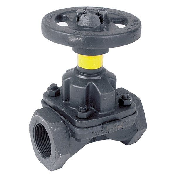 Screwed Cast Iron Diaphragm Valve Hand wheel Operated