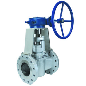 Carbon Steel Flanged Severe Service Plug Valve with Gearbox and Handwheel