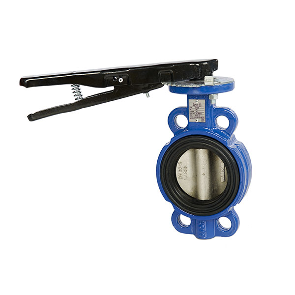 Cast Iron Wafer Pattern Butterfly Valve with Stainless Steel Disc & EPDM Seat Lever Operated