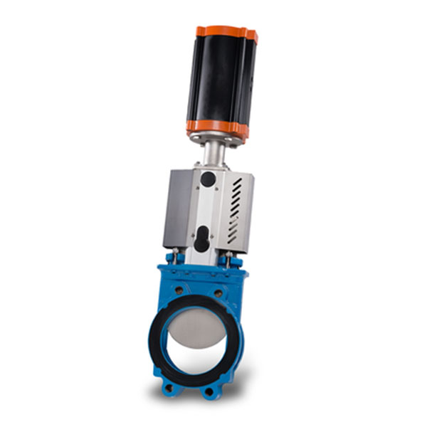 Wafer Knife Gate Valve Cast Iron with Pneumatic Cylinder Operator