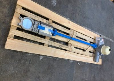 Knife Gate Valve with Extension and Electric Actuator