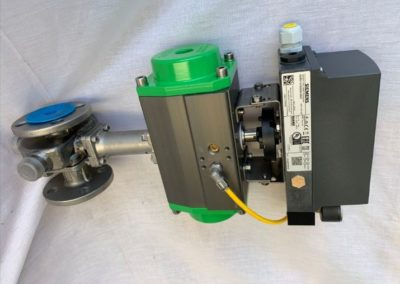 Steam Jacketed Actuated Ball Valve 4-20mA