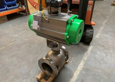 Actuated Stainless Steel Flanged Ball Segment Valve