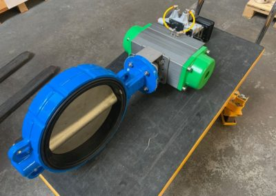 Actuated EPDM Seated Butterfly Valve 4-20mA