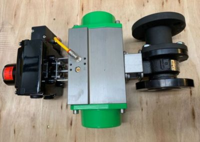 Actuated Carbon Steel Ball Valve with Westlock Switchbox