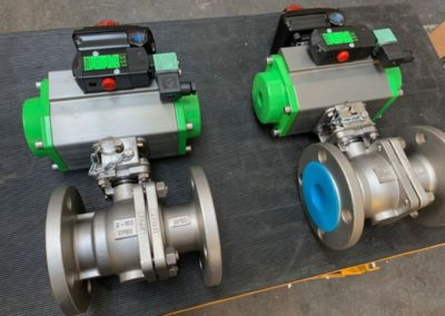 Actuated Stainless Steel Ball Valves lockable