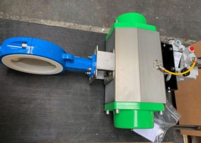 Actuated PTFE lined Butterfly Valve 4-20mA