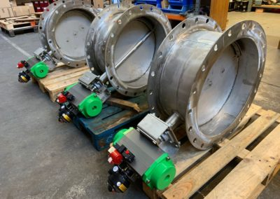 Actuated Butterfly Dampers Stainless Steel ATEX