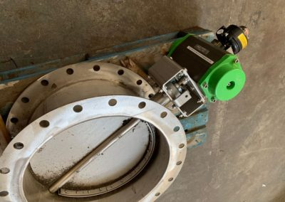 600mm Actuated Butterfly Damper with ATEX Switchbox