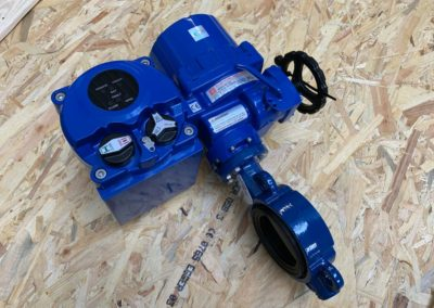 Wafer Pattern Butterfly Valve + Electric Actuator with Fail Safe Battery Back Up